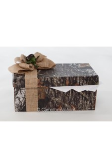 Camo and Burlap Gift Card Box