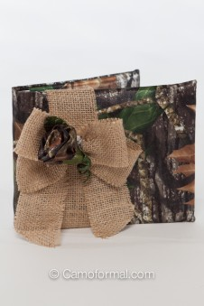 Camo and Burlap Guest Book