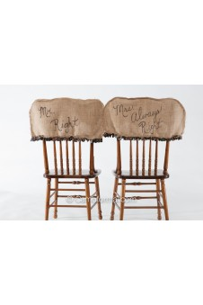 Camo and Burlap Universal Chair Covers
