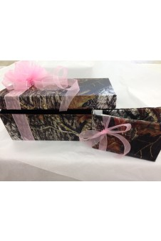 * Camo Covered Card Box and Guest Book Set