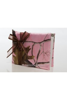 Camo Chocolate and Roses Guest Book