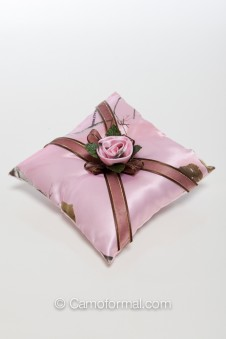 Camo Chocolate and Roses Pillow