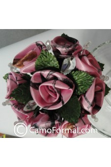 Camo Floral Bouquet, Small with Crystals