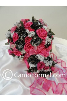 "Camo Floral ""Bridal"" Bouquet TO HAVE & HOLD 3 pieces"