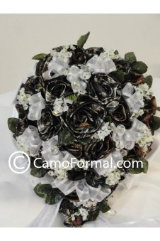 "* Camo Floral ""Bridal"" Bouquet"