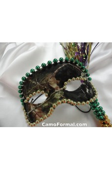 Camo Mardi Gras Mask