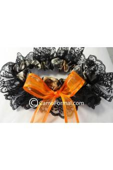 Garter Camo Black Lace