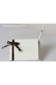 Guest Book and Pen with Bow