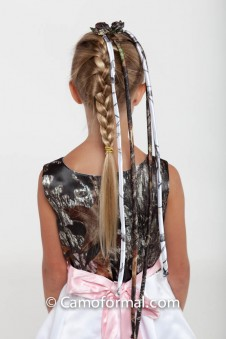 *Camo Hair Braiding Ribbon