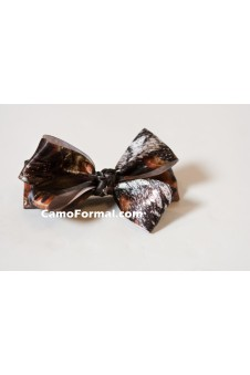 Camo Hair Bow Barrette Bow Large