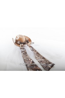 "Camo Hat Band 2"" x 90"" Bow Tails"