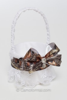 Flower-girl  Camo and Lace Basket