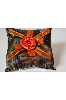 Pillow, Roses and Organza Ribbon