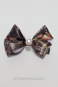 Camo Bling Hair Bow
