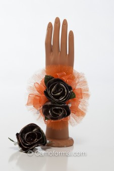Camo Corsage and Boutonniere