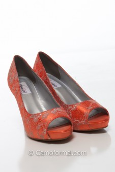 Winter Satin and Lace Shoe