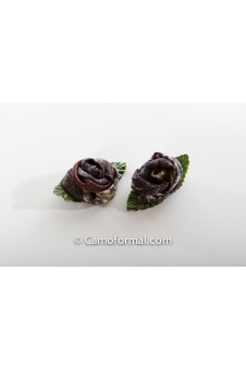 Camo Rose Tiny Hair Pins, Set of 2