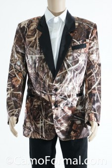 Camo Tux Jacket with Black Lapels