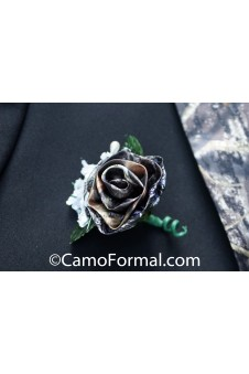 Boutonniere with White Floral