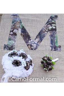 Camo and Burlap Aisle Runner