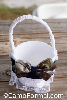 Flower-girl Denim Camo and Lace Basket