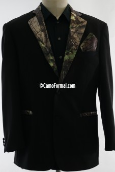 * Camo Trimmed Tuxedo Jacket and Pants
