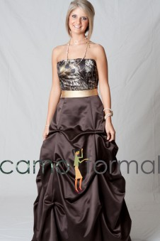 3044 Strapless with Pickup Skirt and Sash