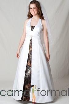 3850 Halter Split Apron Wedding Gown