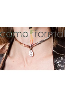 Choker- Tie Back, with Tear Drop Stone