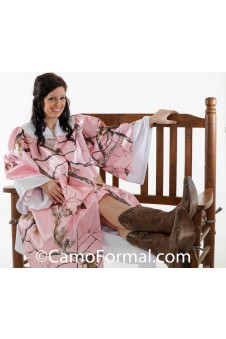 Camo Graduation Gown with Accent Trim