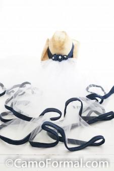 Denim Hat Band & Waist Veil