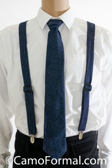 * Camo Suspenders and Long Tie - Adult
