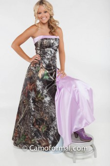 "* 3033 All Camo ""Heather"" A-Line Scalloped Front"