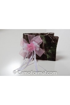 """I Love Peonies"" Camouflage Guest Book"