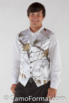*Men's Vest Realtree AP SNOW