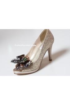 """""""Sari"""" Glitter Camo Accented Shoe"""