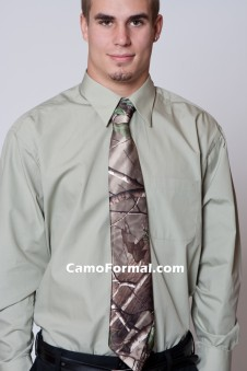 * Men's  Camo Long Tie