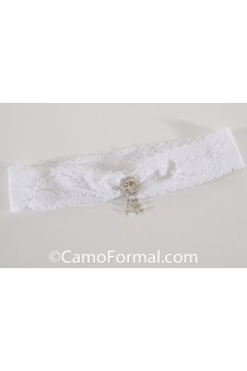 Garter, lace and rhinestone