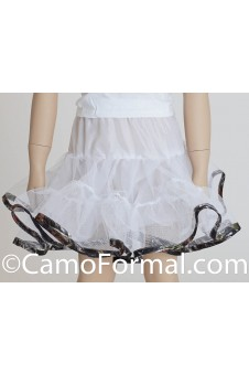 Flower-girl Camo Trimmed Short Slip