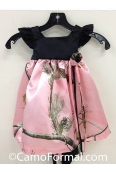 Camo and Satin Girl's Pinafore