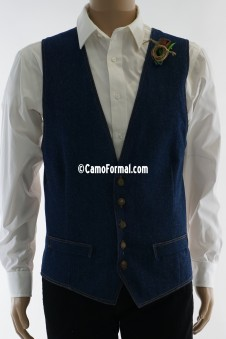 Men's Denim Slim Vest