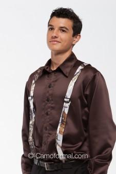 * Camo Suspenders - Adult