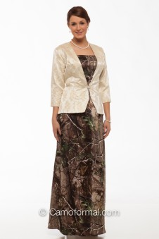 MOBJ5 Camo Mother's 2 Piece, Dress and Jacket