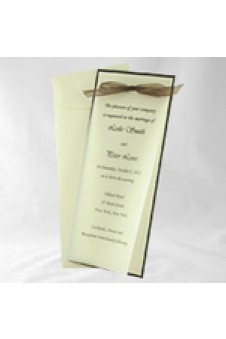 DIY Vellum Invitation Kit Slim-Brown & Ecru