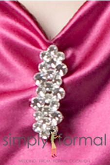 "Rhinestone ""Triple Bar"" Pin"