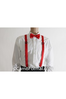 * Camo Suspenders and Bow Tie - Adult