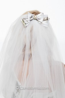 * Ribbon Bow Veil on Comb