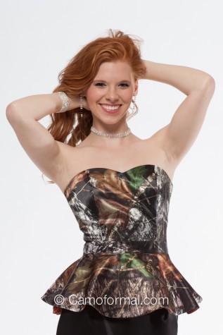 04dabeccc4 9059 Sweetheart Strapless Top Camouflage Prom Wedding Homecoming Formals