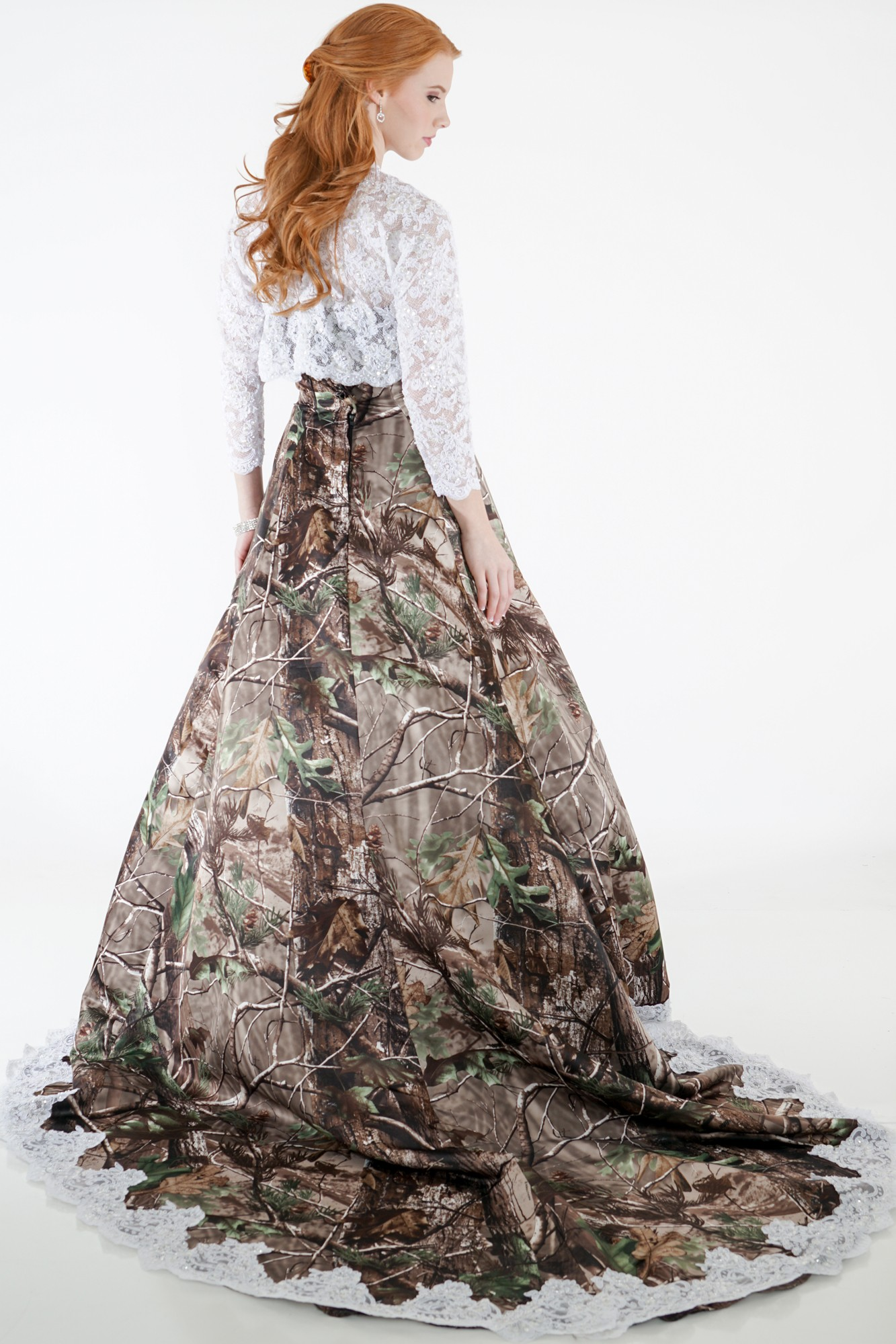 Camo Wedding Gown With Lace Accent Camouflage Prom Wedding