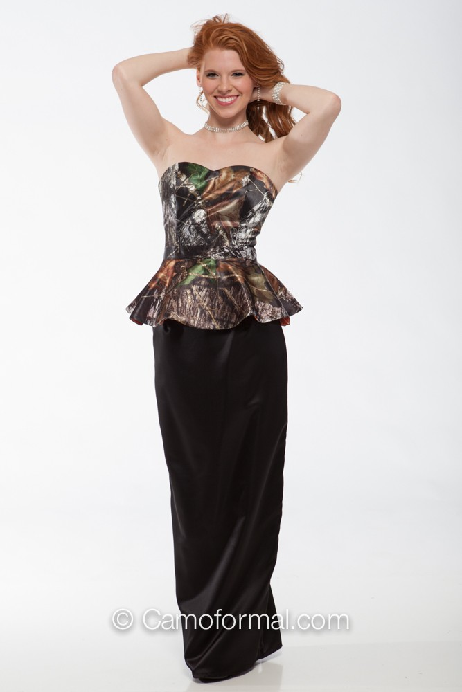 cbaaadca42 t9059 Sweetheart Top with Peplum lined with Hunter s Orange - Skirt Sold  Separately